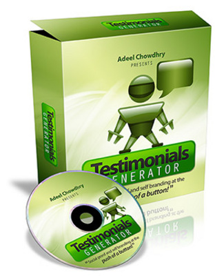 Product picture *NEW!* Testimonials Generator - Master Resale Rights