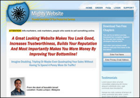 Product picture *NEW!* Mighty Website Template With Master Resale Rights