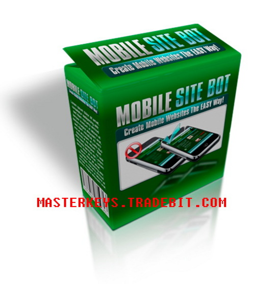 Product picture *NEW!* Mobile Site Bot -Create Your Own Mobile Site Easy PLR