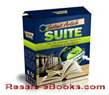 Product picture *NEW!* Instant Article Suite Software Makes Your Content Uniqueness
