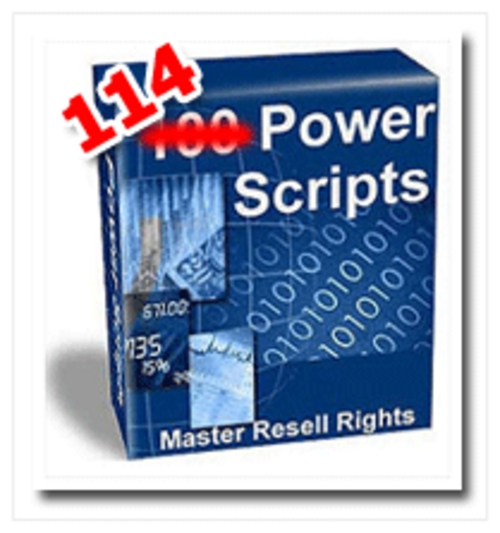 Product picture *NEW* 114 Powerful Scripts - Resale Rights - Huge Package