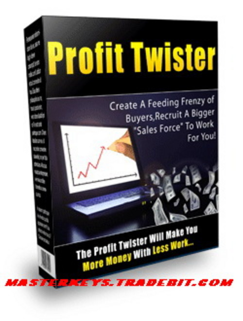 Product picture *NEW*   Profit Twister - Your Profit Pulling List Building Powerhouse | Your Affordable All In One Sales Solution