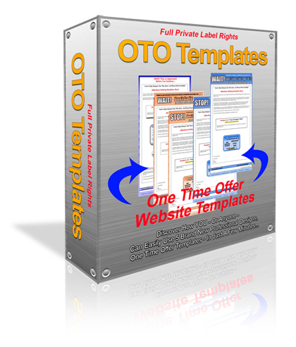 Product picture *NEW!*  One Time Offer Templates PLR | Simple customizable One Time Offer Templates PLR - PRIVATE LABEL RIGHTS