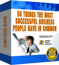 Product picture *NEW*  50 Things The Most Successful Business People Have In Common - And How You Can  Begin To Emulate Them In Just 5 Minutes