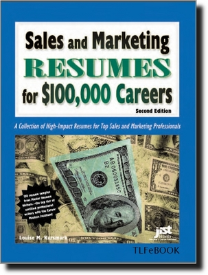 Product picture *NEW!* Sales And Marketing Resumes for $100,000 Careers