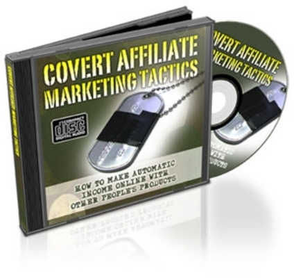 Product picture  *NEW!* Covert Affiliate Marketing Tactics W Resale Rights