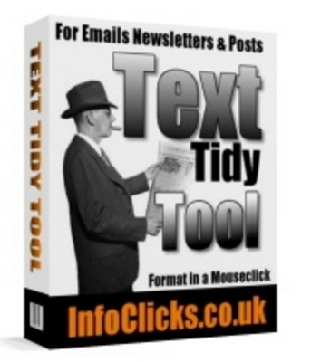 Product picture  *NEW!* Text Tidy Tool - For Emails Newletters & Posts