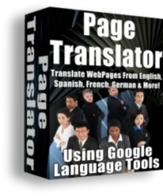 Product picture *NEW!* Page Translator (with Master Resale Rights)