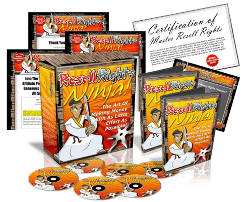 Product picture *NEW!* Resell Rights Ninja With Master Resell Rights (mrr)