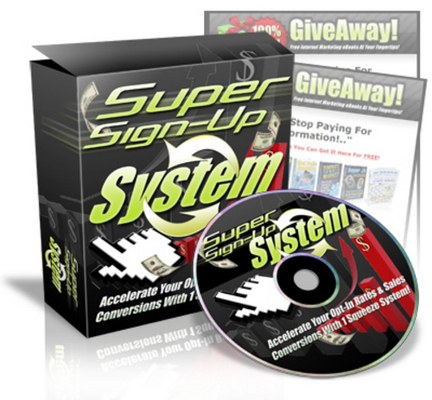 Product picture *NEW!* Super Sign Up System - Master Resell Rights