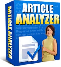 Product picture *NEW!* Article Analyzer -Resale Rights | Get More Targeted Search Engine Traffic With Articles Optimized