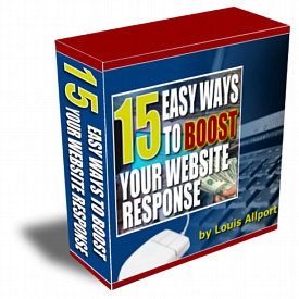 Product picture *NEW*    15 Easy Ways To Boost Your Website Response | Make More Profit From Every Website Visitor You Receive