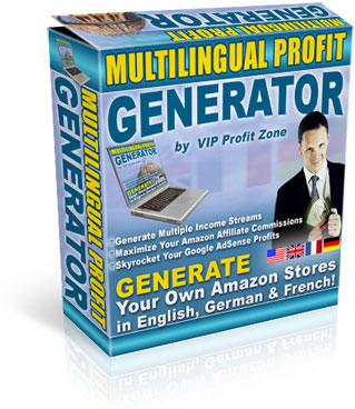 Product picture *NEW!* Multilingual Profit Generator  - MASTER RESALE RIGHTS | Generate Your Own SEO Amazon Stores in English, French & German | Maximize Your Amazon Affiliate Commissions And Skyrocket Adsense
