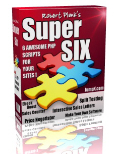 Product picture *NEW!* Robert Plank s Super Six PHP Scripts with Master Resell Rights