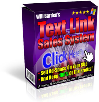 Thumbnail  *NEW!*	  The Text Link Sales System  - Sell text ad links on your website  - Master Resale Rights