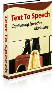 Product picture *NEW*  Text To Speech:  Captivating Speeches Made Easy | Resell Rights