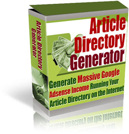 Product picture *NEW!*  Article Directory Generator - PRIVATE LABEL RIGHTS | Generate Massive Google Adsense Income Running Your Own Article Directory on the Internet