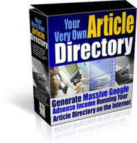 Product picture *NEW*  Article Site Directory  - Resale Rights | Your Very Own Article Directory Script