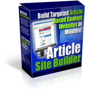 Product picture *NEW* Article Site Builder - Build Targeted Article Based Content Websites In Minutes -