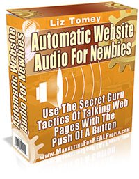 Product picture *NEW!* Automatic Web Site Audio For Newbies - MASTER RESALE RIGHTS - Add Audio to Your Website in 5 Minutes Flat