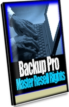 Product picture *NEW!* Backup Pro Software Master Resell Rights
