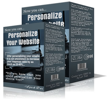 Product picture *NEW* Personalize Your Website - MASTER RESALE RIGHTS | Tired Of Getting Poor Results From Your Email Campaigns