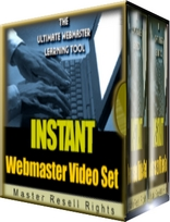 Product picture *NEW*  Instant WebMaster Video Set! | MASTER THE WEB IN MINUTES