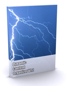 Product picture *NEW!* Dynamic Content Organizer -  PRIVATE LABEL RIGHTS | The Hands Off Website Management Solution