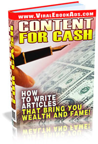 Product picture *NEW* Content For Cash - Resell Rights | How to Write Articles That Bring You  Wealth and Fame