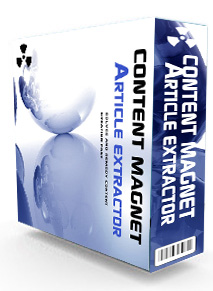 Product picture *NEW!* Content Magnet Article Extractor - MASTER RESALE RIGHTS | DESKTOP BASED Content Website Builder
