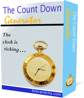 Product picture  *NEW!*  The CountDown Generator  - Master Resale Rights