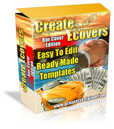 Product picture *NEW!* Create eCovers Made Easy - MASTER RESALE RIGHTS | Software Box Creator with PhotoShop