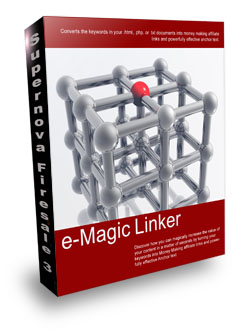Product picture *NEW!*  e-Magic Linker - Converts Keywords Into Affiliate links