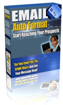 Product picture *NEW!* Email Auto Format -Get Your Email Past The SPAM Filters!- MASTER RESALE RIGHTS