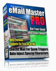 Product picture *NEW!* Email Master Pro | eMailMaster Pro - Remove Spam Trigger Words And Format Your Emails Easily
