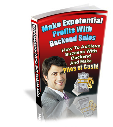 Thumbnail  *NEW!* Make Exponential Profits with Backend Sales - PRIVATE LABEL RIGHTS | How to Achieve Success with Backend and Make Piles of Cash!