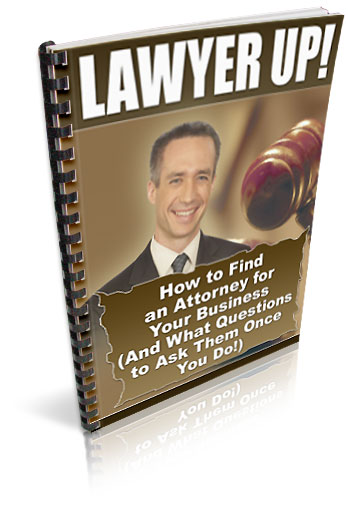 Product picture *NEW!* Lawyer Up  - RESALE RIGHTS  | You Need to Protect Your Internet Business!