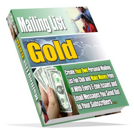 Product picture *NEW!*  Mailing List Gold - MASTER RESALE RIGHTS | Make Money With Every Way Possible From Your Mailing List At Cult Status!