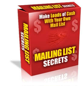 Product picture *NEW!* Mailing List Profits - MASTER RESALE RIGHTS | Make Money With Every Way Possible From Your Mailing List At Cult Status!