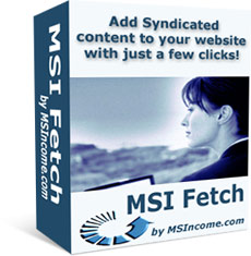 Product picture *NEW!*  MSI Fetch  - PRIVATE LABEL RIGHTS | How to Add RSS Feeds to your Website that Search Engines Love!