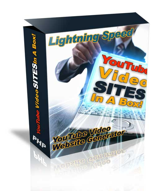 Product picture *NEW!* Youtube Video Site Generator - Youtube Site in a Box   - MASTER RESALE RIGHTS