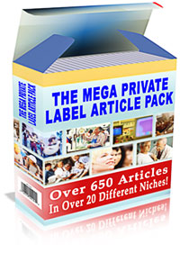 Product picture *NEW!*  The Mega Private Label Article Pack - MASTER RESALE RIGHTS