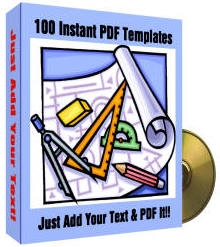 Product picture *NEW!*  100 Instant PDF Templates - Private Label Rights