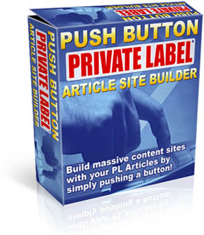 Product picture *NEW!* Push button Private label Aricle Site Builder Index