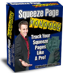 Product picture *NEW!*   Squeeze Page Manager | Track Your Squeeze Pages Like A Pro!