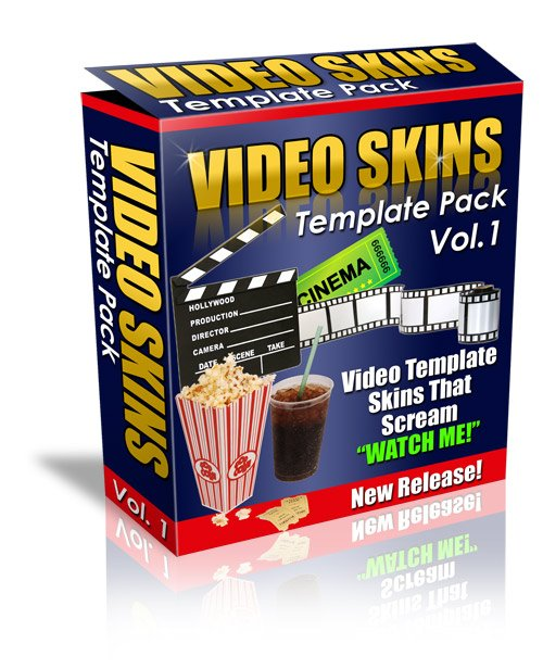 Product picture *NEW!*VIDEO SKIN TEMPLATE PACK | Video Template Skins That Scream Watch Me!
