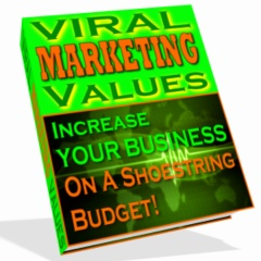 Product picture *NEW*  Viral Marketing Values - Increase Your Business on a Shoestring | Resale Rights