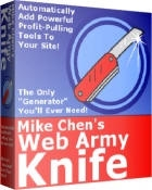 Product picture *NEW!* Web Army Knife | Instantly add the secret profit-pulling tools to your web site!