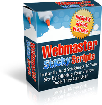 Product picture *NEW!*	   Webmaster Sticky Scripts - Webmaster Tool Generator Scripts - Master Resale Rights
